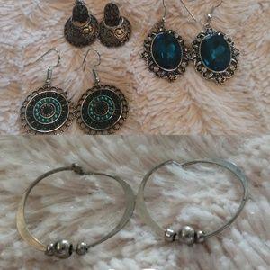 Small dangle earrings bundle